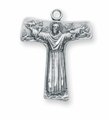 HMH Religious St Francis of Assisi Tao Cross Necklace