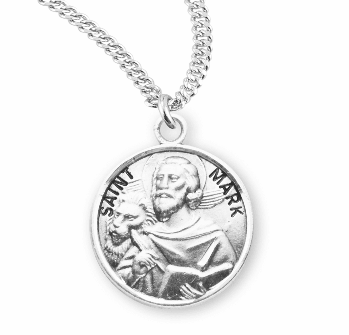 HMH Religious St Mark the EvangeliHMH Religious St Sterling Silver Patron Saint Necklace