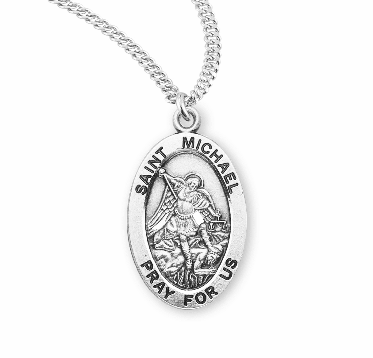 HMH Religious St Michael Oval Medal Necklace