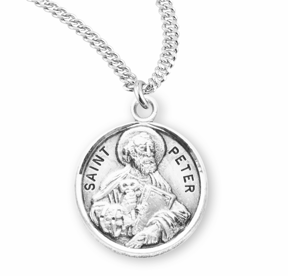 HMH Religious St Peter the Apostle Sterling Silver Patron Saint Necklace