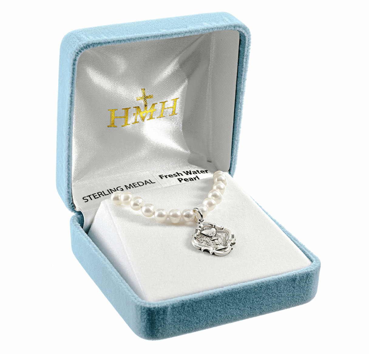 HMH Religious Sterling Silver Communion Chalice Freshwater Pearls Necklace