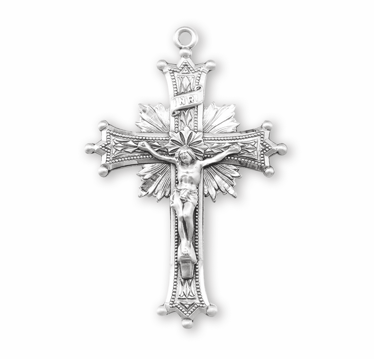 HMH Religious Sterling Silver Crucifix Necklaces