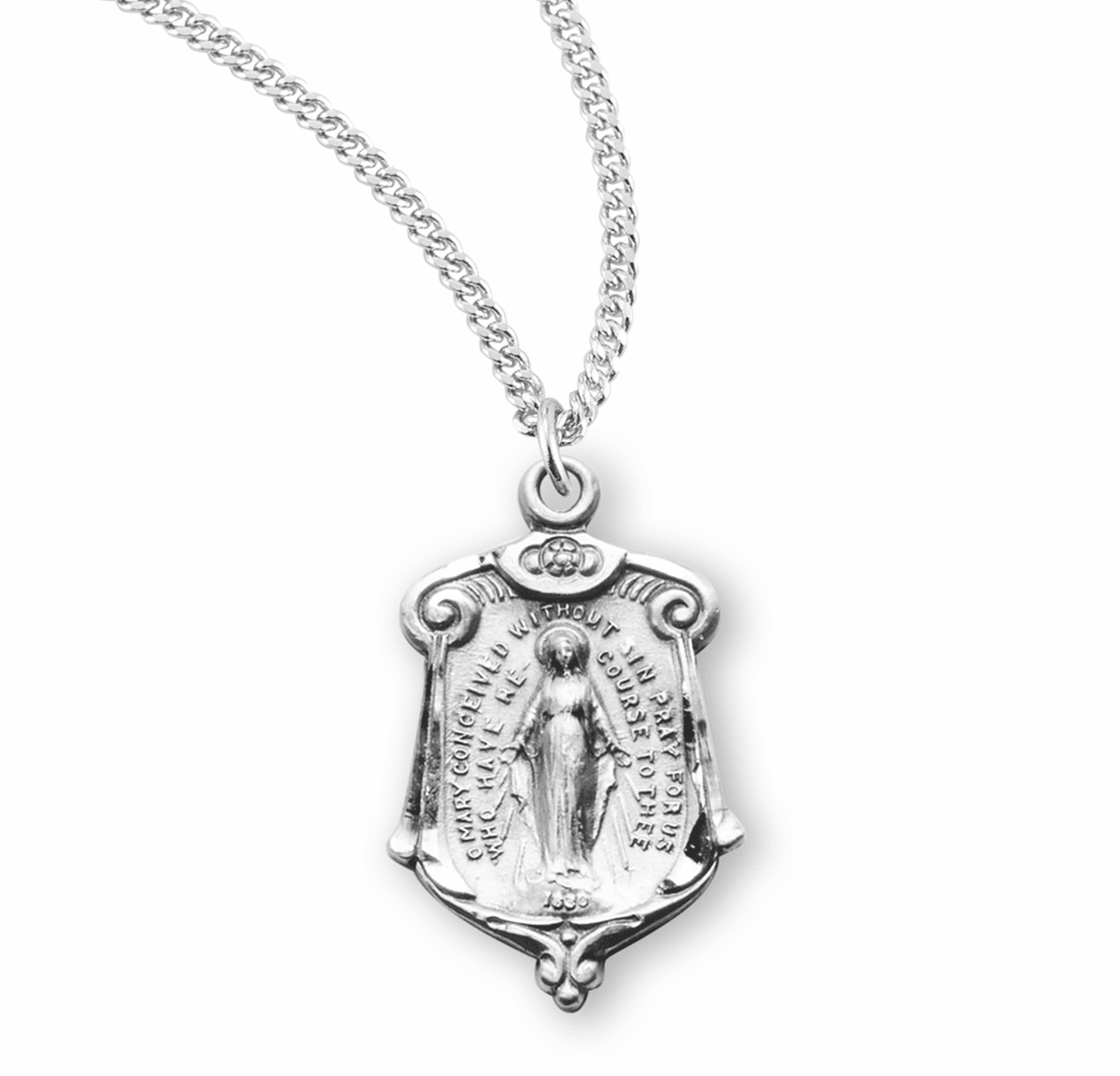 HMH Religious Sterling Silver Miraculous Medal Necklaces