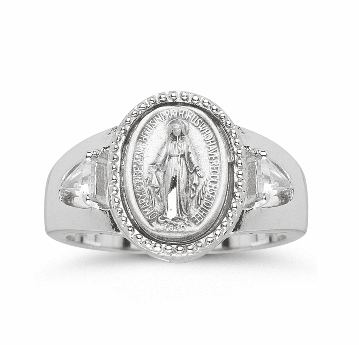 HMH Religious Sterling Silver Miraculous Medal Ring