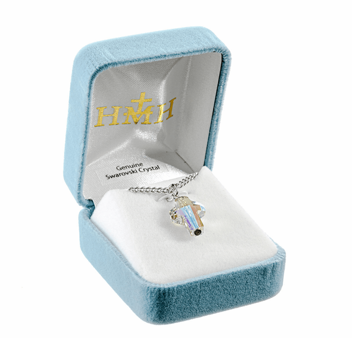 HMH Religious Swarovski Crystal Paradise Cross Pendant Necklace