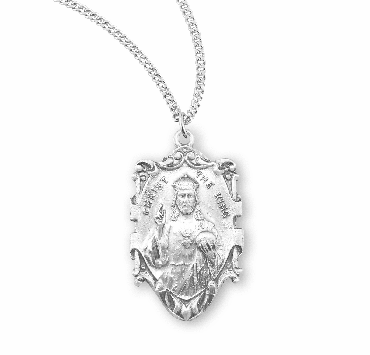 HMH Religious The Lord Jesus the King Christ Sterling Silver Necklace w/Chain