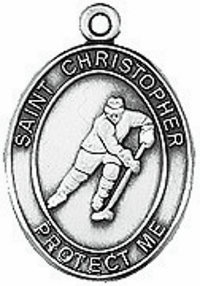 Hockey St. Christopher Saint Medal