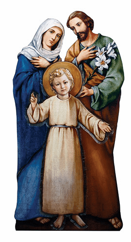 "Holy Family 31"" H Marco Sevelli Standing Plaque by Sacred Traditions"