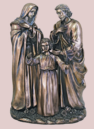Holy Family Bronze Cold Cast Sculpture Statue