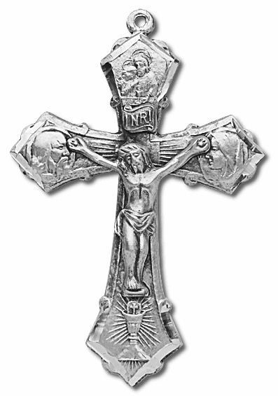Holy Family Sterling Silver Crucifix Rosary Part by HMH Religious
