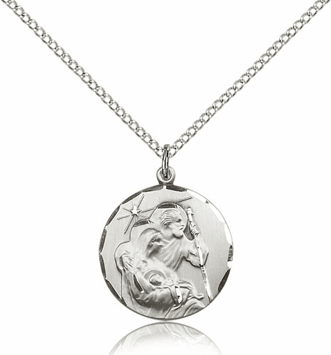 Holy Family Sterling Silver Medal Pendant by Bliss