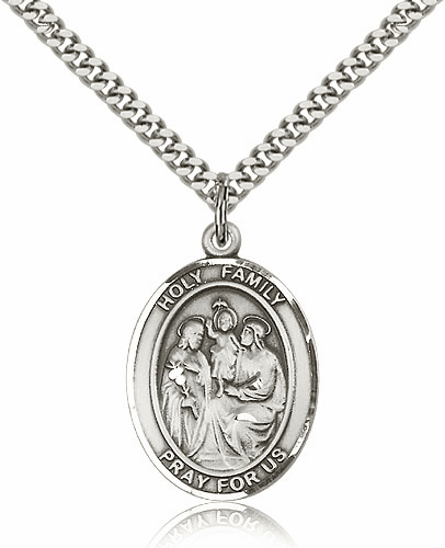Holy Family Sterling Silver Necklace
