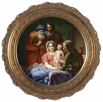 Holy Family with Grandparents Joachim & Anne Canvas Wall Art by Nelson