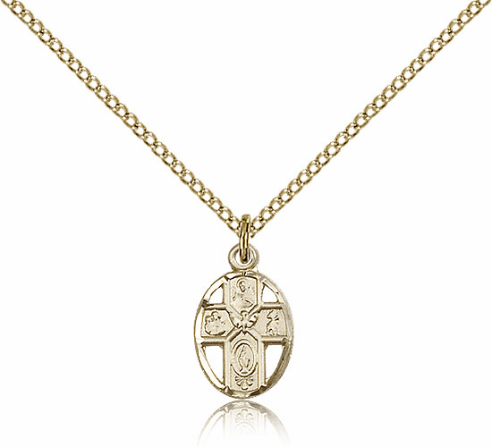 Holy Spirit Confirmation Gold Filled 5-Way Pendant Necklace