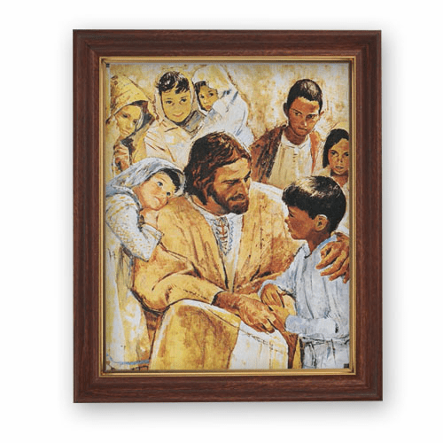 Hook God is Love Framed Print Picture with Woodtone Frame by Gerffert