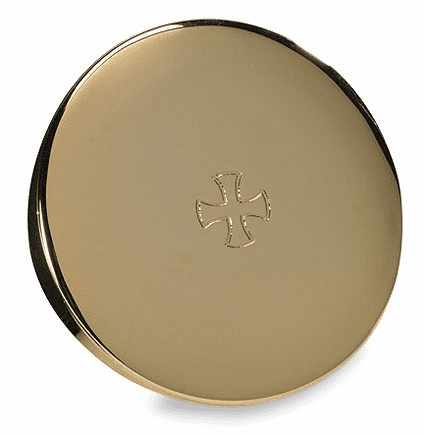 Hospital Eucharist Pyx 24Kt Gold-Plated with Cross by Stratford Chapel