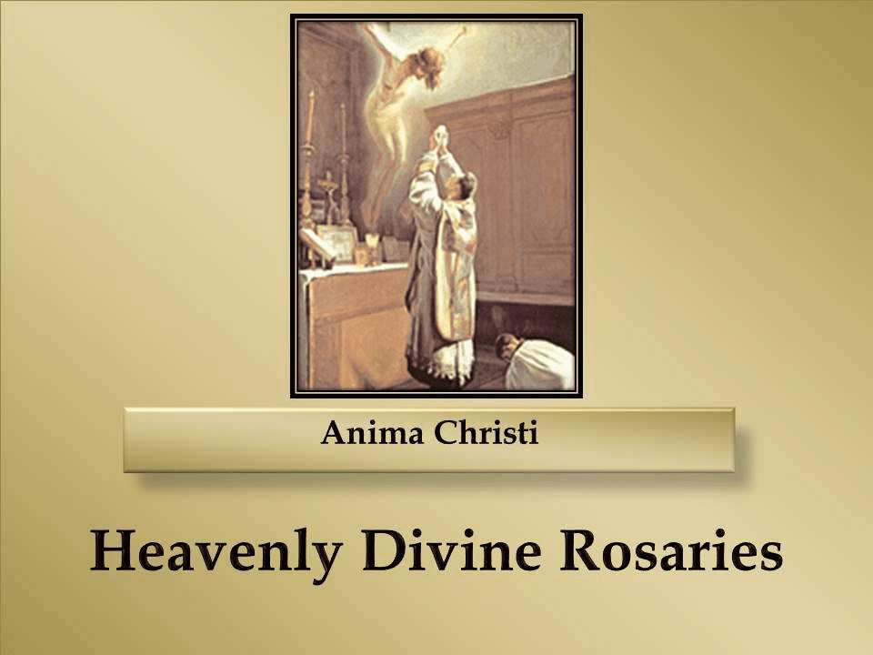 How to Pray the Anima Christi