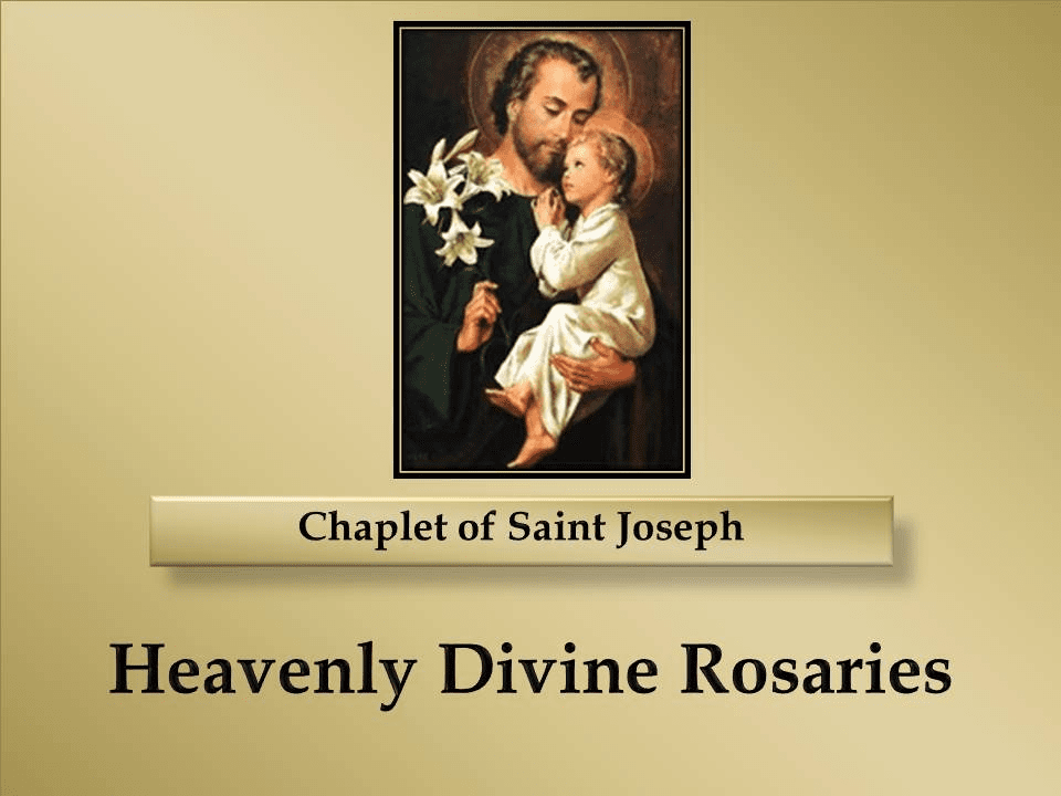 How to Pray the Chaplet of Saint Joseph
