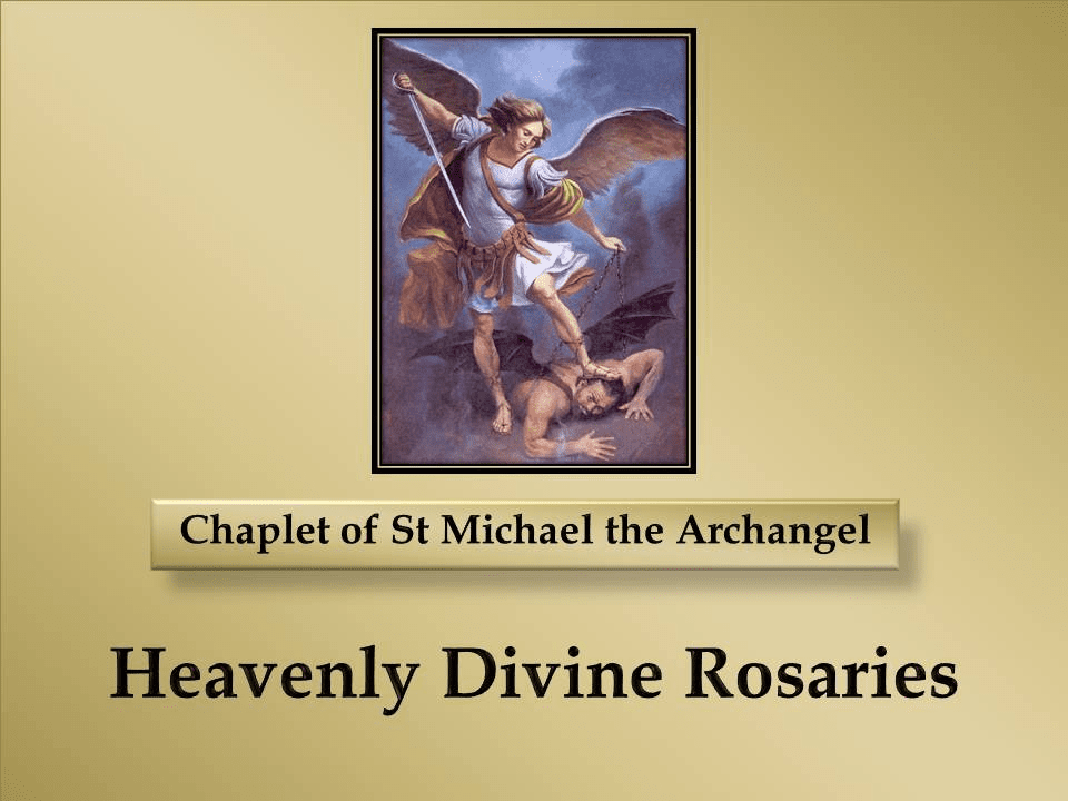 How to Pray the Chaplet of St Michael the Archangel - Angelic Crown