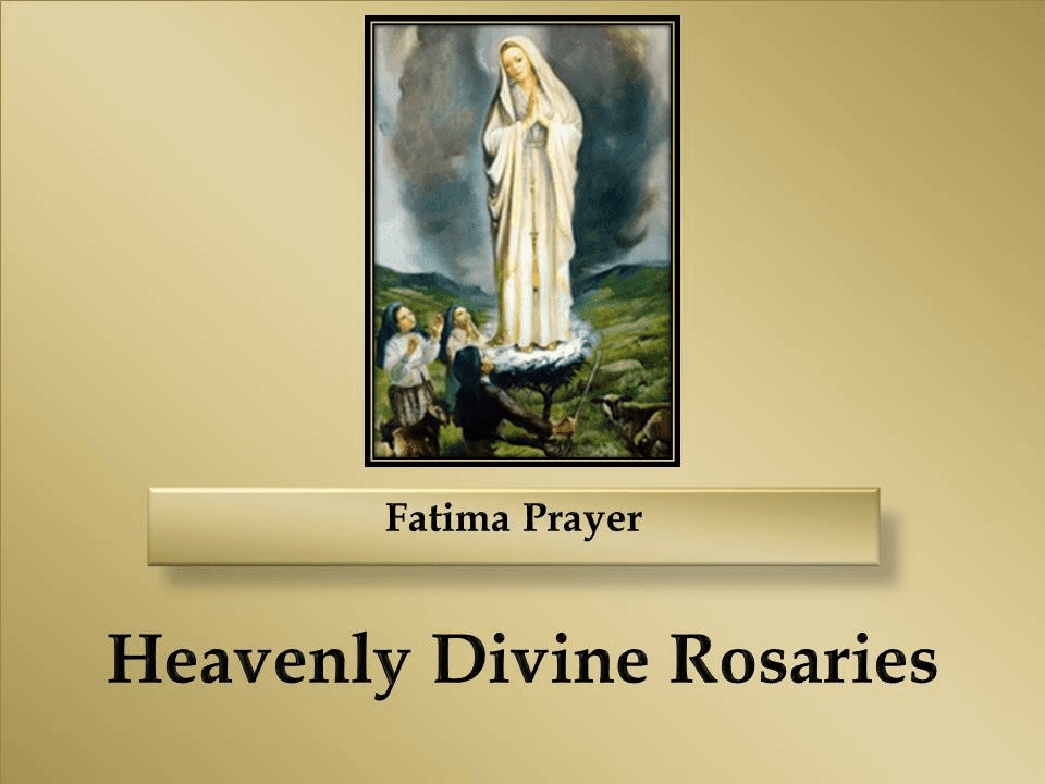 How to Pray the Fatima Prayer