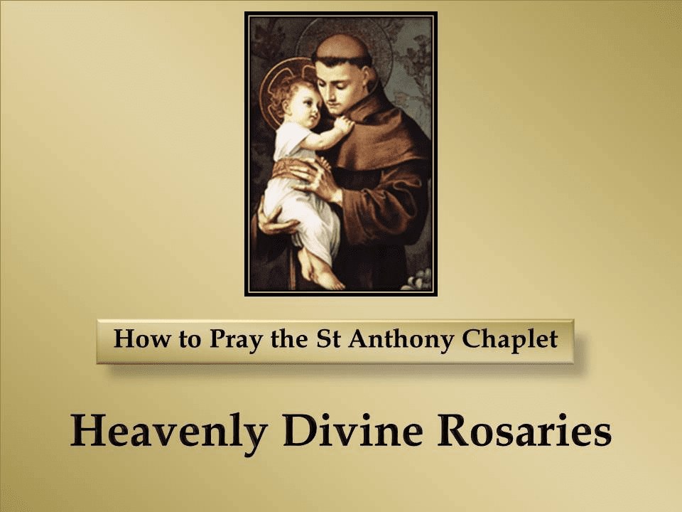 How to Pray the St Anthony Chaplet