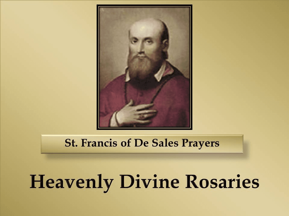 St Francis of De Sales Prayers