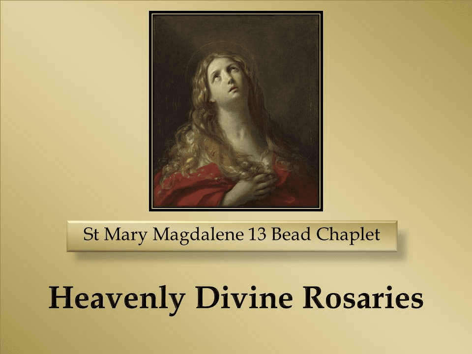 How to Pray the St Mary Magdalene 13 Bead Chaplet