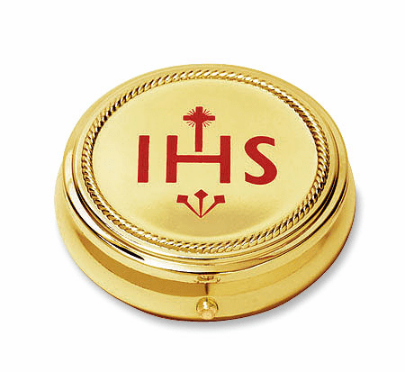 IHS Hospital Eucharist Pyx with Gold Finished 2pc Sets by Stratford Chapel