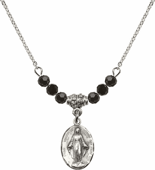 Immaculate Conception Beaded Charm Necklaces