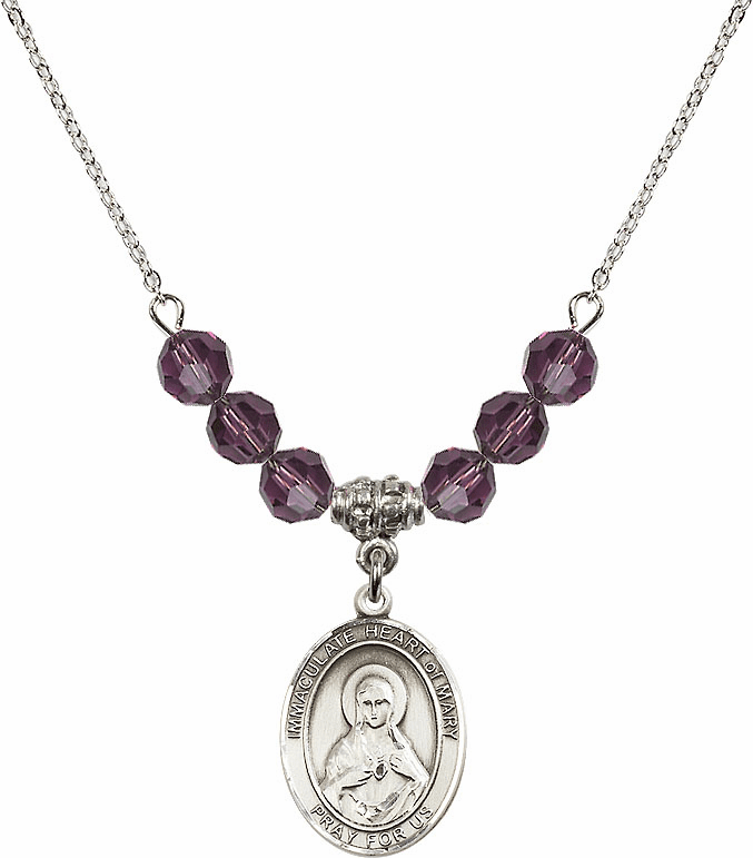 Immaculate Heart of Mary Beaded Charm Necklaces