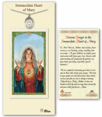 Bliss Immaculate Heart of Mary Pendant Prayer Card Set
