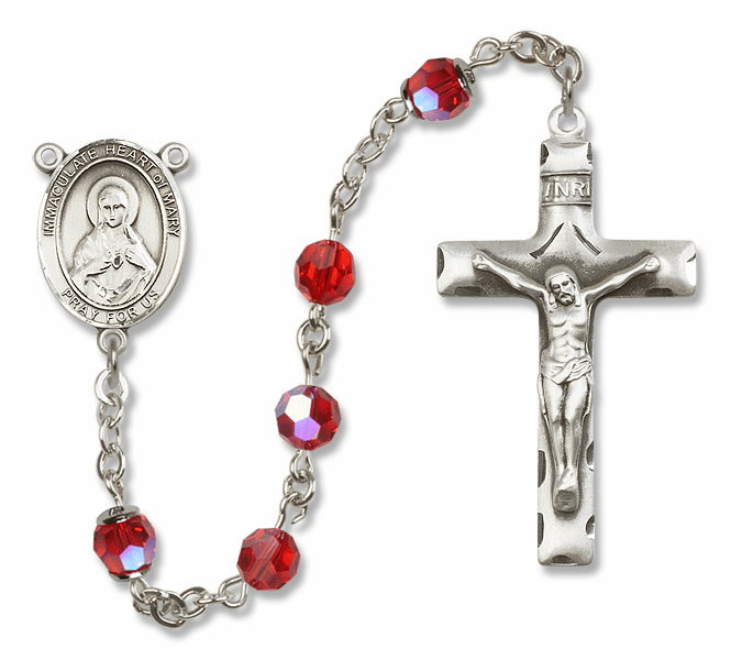 Immaculate Heart Sterling, Gold-filled and 14kt Gold Rosaries