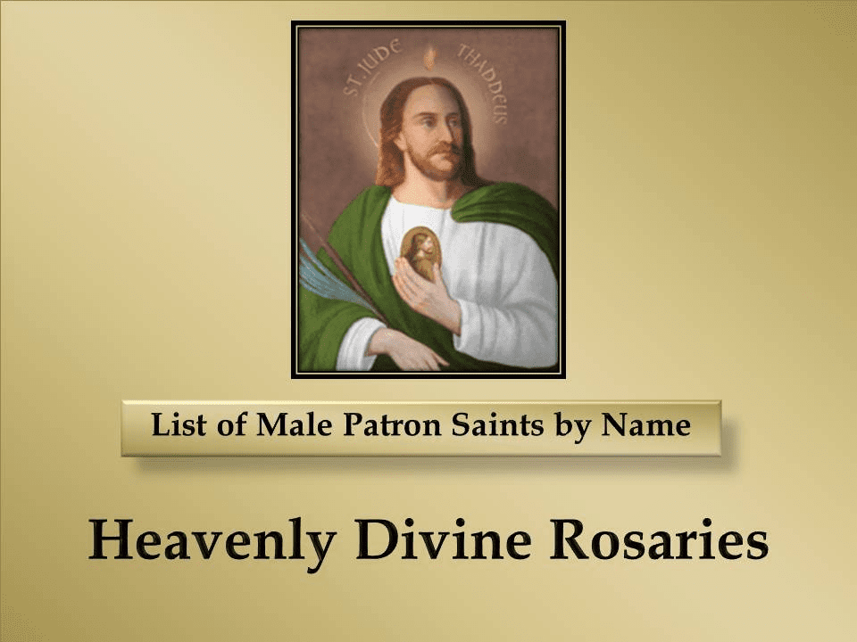 Index List of Male Patron Saints by Name