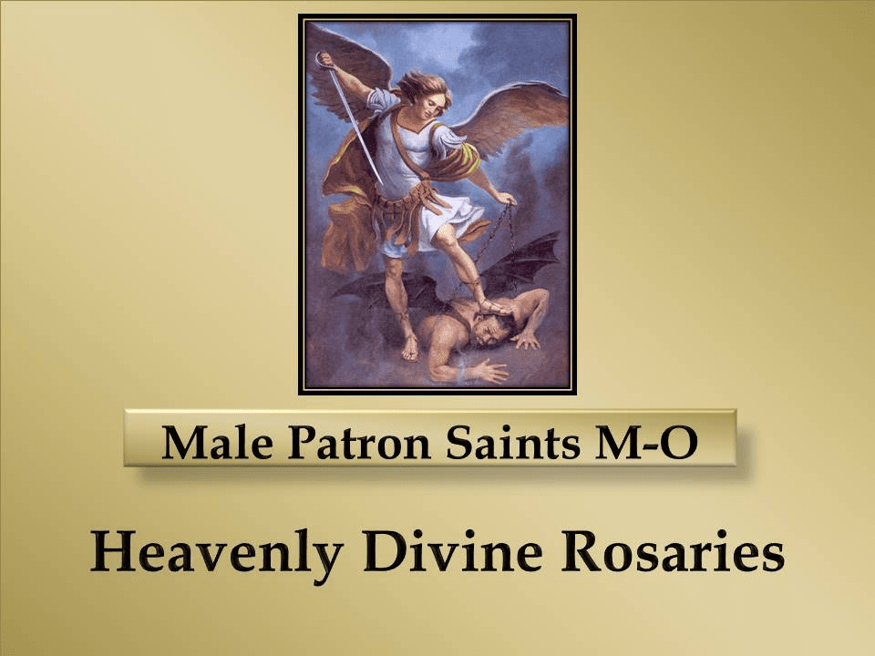Index Male Patron Saints M-O