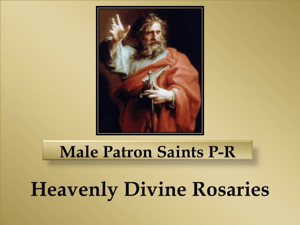Index Male Patron Saints P-R