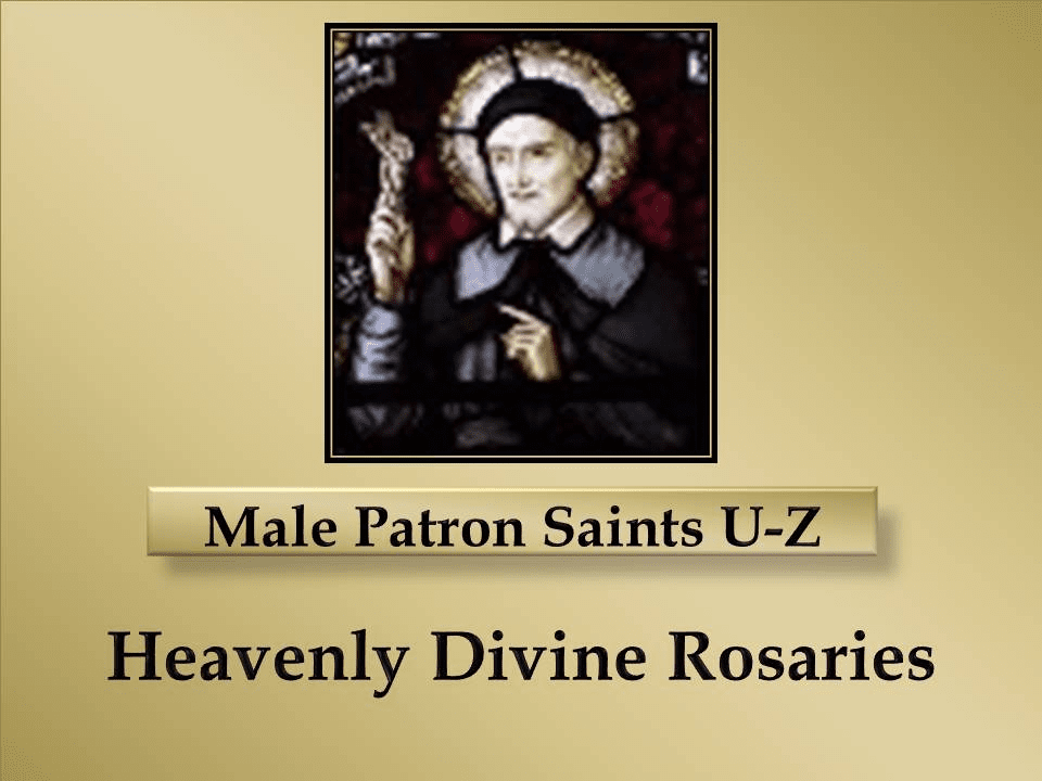 Index Male Patron Saints U-Z