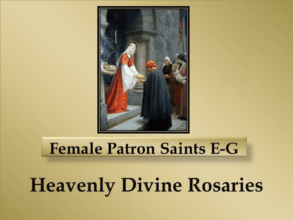 Index of Female Patron Saints E-G