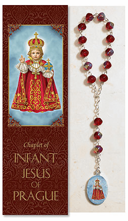 Infant of Jesus Prague Catholic Prayer Chaplet Sets 3ct by Milagros