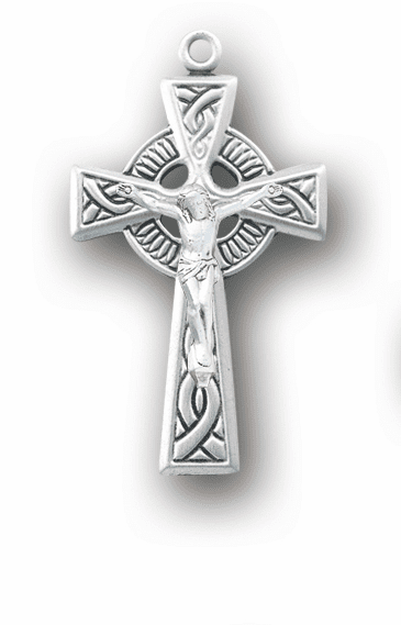 Irish Celtic Weave Sterling Silver Crucifix Cross Rosary Part by HMH Religious