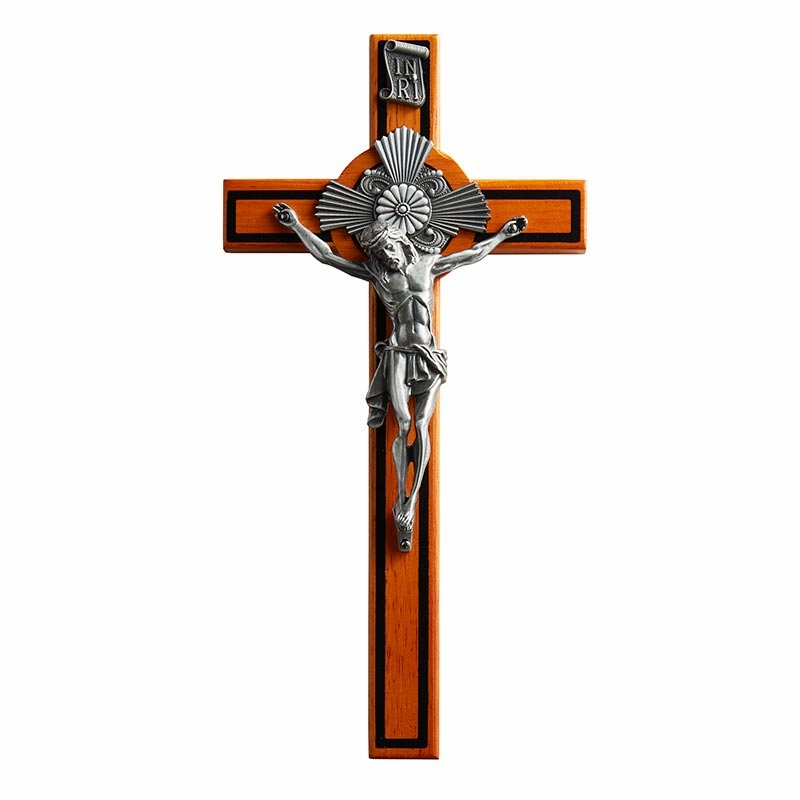 James Brennan 10in Baroque Crucifix with Edging Christian Cross