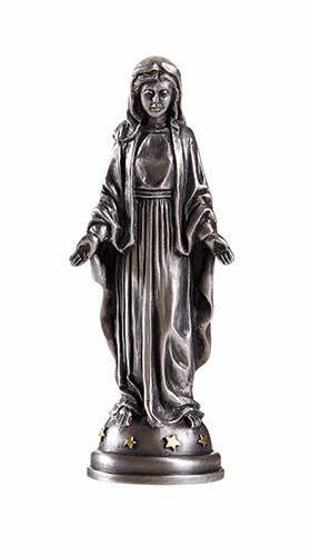 James Brennan Pewter Our Lady of Grace Patron Saint Statue