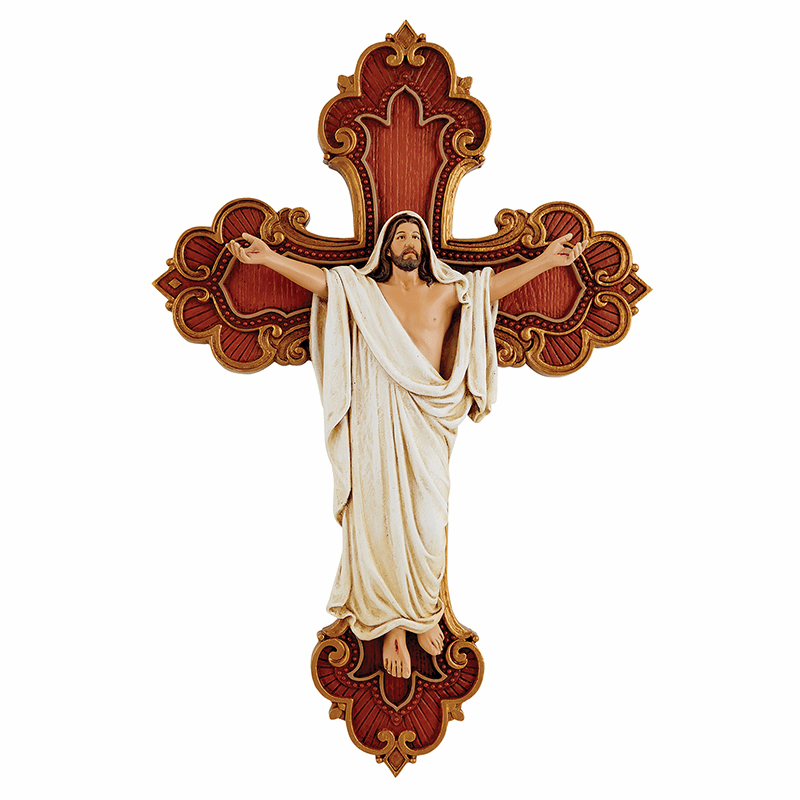 James Brennan Risen Christ Resin Christian Wall Cross