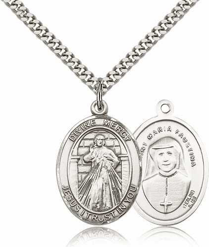 Jesus Divine Mercy Catholic Medal Mecklace by Bliss Manufacturing