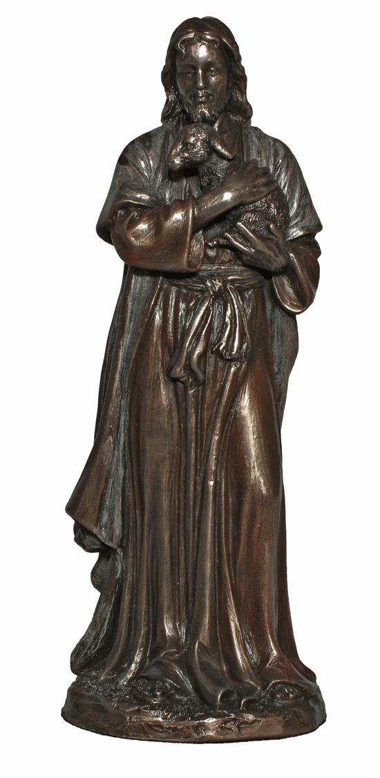 Jesus the Good Shepherd Holding a Lamb Statue by Veronese Collection