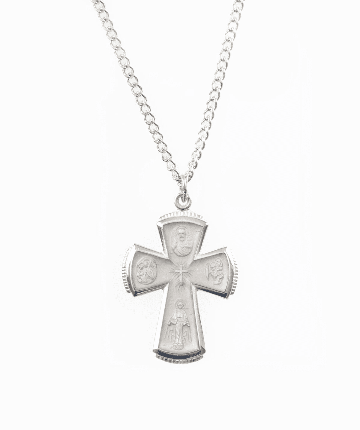 Jeweled Cross 4 Way Catholic Crosses and Christian Jewelry