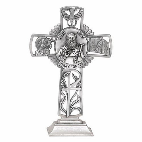Jeweled Cross David Standing Bethany Collection Pewter Wall Cross