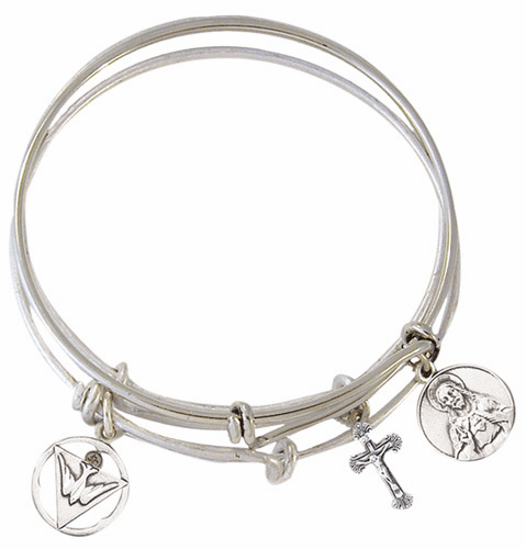 Jeweled Cross Faith Bangle Bracelets