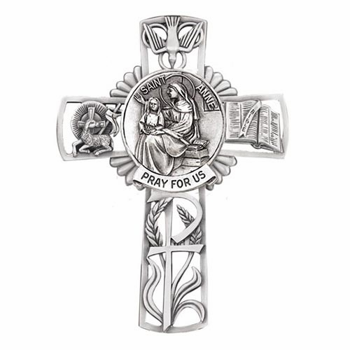 Jeweled Cross St Anne Bethany Collection Wall Cross