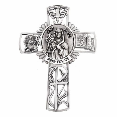Jeweled Cross St Clare Bethany Collection Pewter Wall Cross