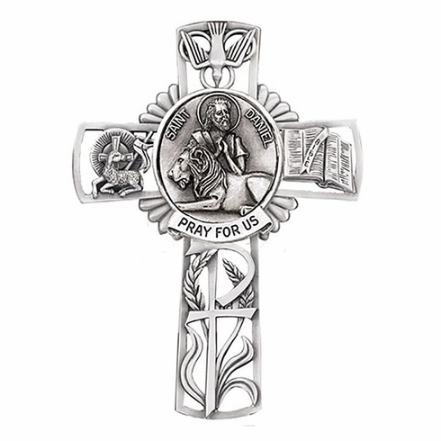 Jeweled Cross St Daniel Bethany Collection Pewter Wall Cross
